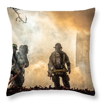 Firefighters Throw Pillow