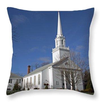 First Church Of Christ Congregational Throw Pillow