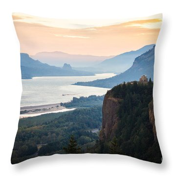 First Light Throw Pillow by Patricia Babbitt