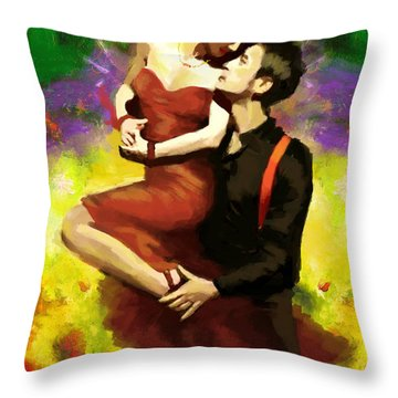 Flamenco Dancer 029 Throw Pillow by Catf