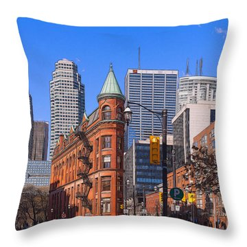 Flatiron Building In Toronto Throw Pillow
