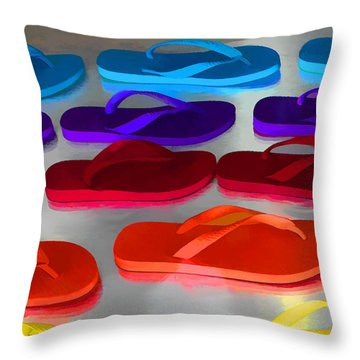 Flip Flopped Throw Pillow
