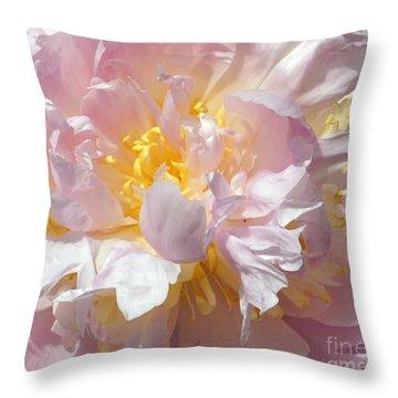 Throw Pillow featuring the photograph Flirtatious Pink by Lilliana Mendez
