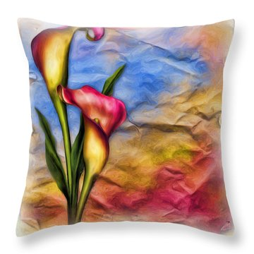Flower Power Throw Pillow by Tyler Robbins