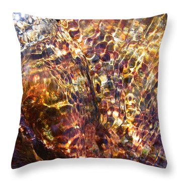 Flowing  Throw Pillow by Agnieszka Ledwon