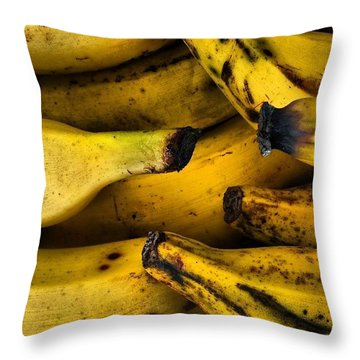 Bananas Throw Pillow by Jason Michael Roust
