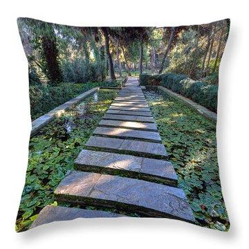 Footpath Throw Pillow by George Atsametakis