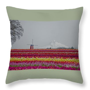 For The Beauty Of The Earth Throw Pillow by Nick  Boren