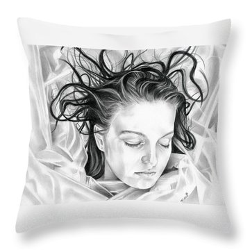 Forget Me Not - Laura Palmer - Twin Peaks Throw Pillow by Fred Larucci