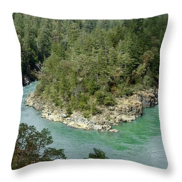 Forks Of The Smith River Throw Pillow