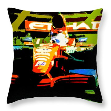 Formula One Throw Pillow