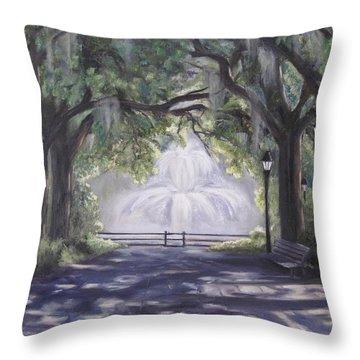 Forsythe Park Throw Pillow by Roberta Rotunda