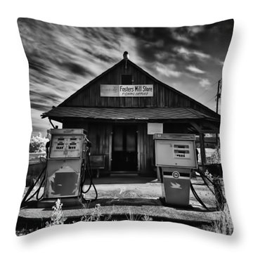 Foster's Mill Store Throw Pillow by Patricia Montgomery