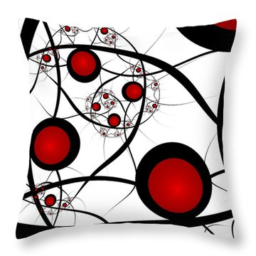 Fractal Balance Throw Pillow
