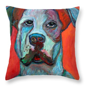 Fred Throw Pillow by Marlene Robbins