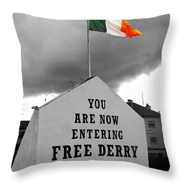 Free Derry Wall Throw Pillow by Nina Ficur Feenan
