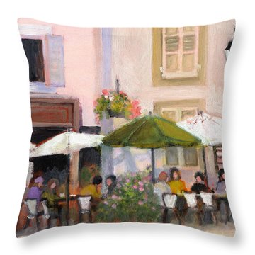 French Country Cafe Il Throw Pillow
