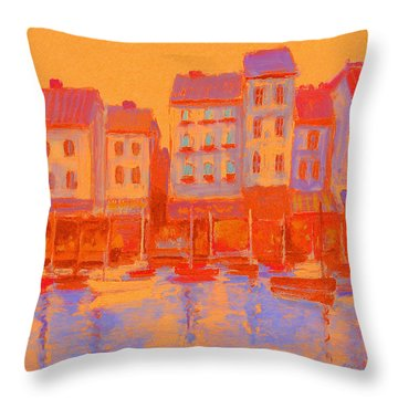 French Harbor Throw Pillow