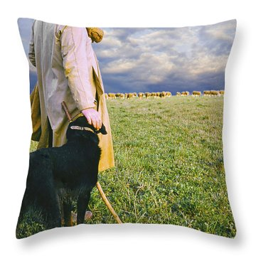 French Shepherd Throw Pillow