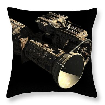 Frenchbulgarian Orbital Weapons Throw Pillow by Rhys Taylor