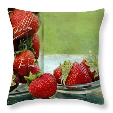 Fresh Berries Throw Pillow by Darren Fisher