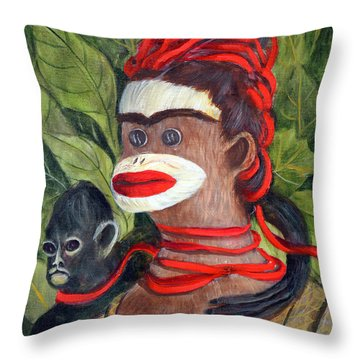 With Love To The Artist Frida Kahlo Throw Pillow