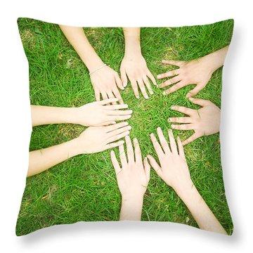 Friends United Throw Pillow by Michal Bednarek