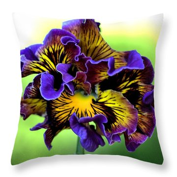 Frilly Pansy Throw Pillow