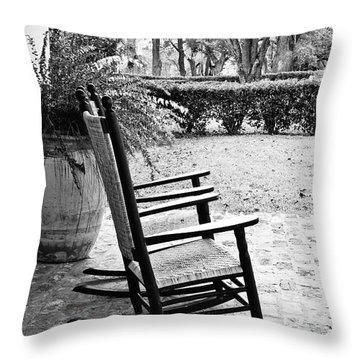 Front Porch Rockers Throw Pillow by Scott Pellegrin