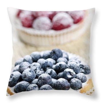 Fruit Tarts Throw Pillow