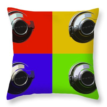 Fuel Cap In Bold Color Throw Pillow