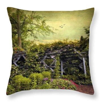 Garden Arbor Throw Pillow