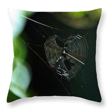 Garden Valentine Throw Pillow