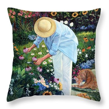 Gardener's Eden Throw Pillow