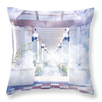 Gateway To Heaven Throw Pillow
