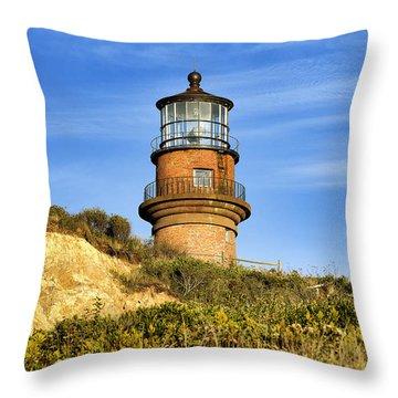 Gay Head Lighthouse Throw Pillow by John Greim