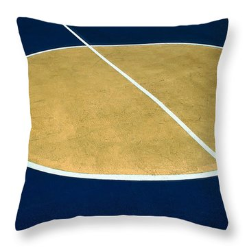 Geometry On The Basketball Court Throw Pillow