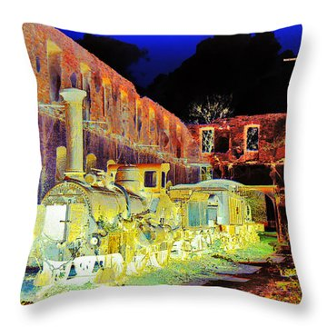 Ghost Train Throw Pillow by Chuck Staley