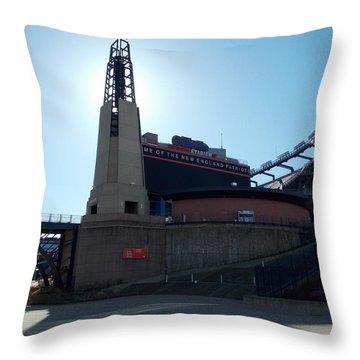 Gillette Stadium Throw Pillow