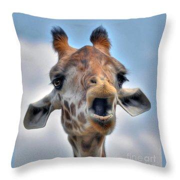 Throw Pillow featuring the photograph Giraffe  by Savannah Gibbs