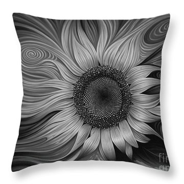 Girasol Dinamico Throw Pillow by Ricardo Chavez-Mendez