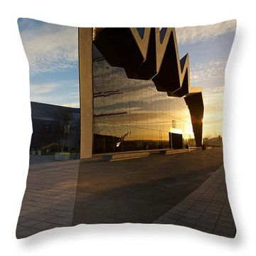Throw Pillow featuring the photograph Glasgow Riverside Museum by Stephen Taylor