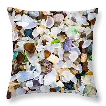 Glass Beach Throw Pillow