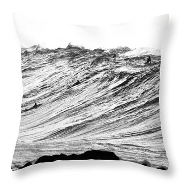 Gold Nugget Bw Throw Pillow