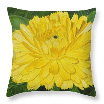 Golden Punch Throw Pillow