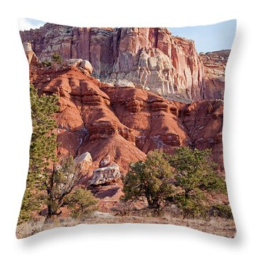 Golden Throne Capitol Reef National Park Throw Pillow