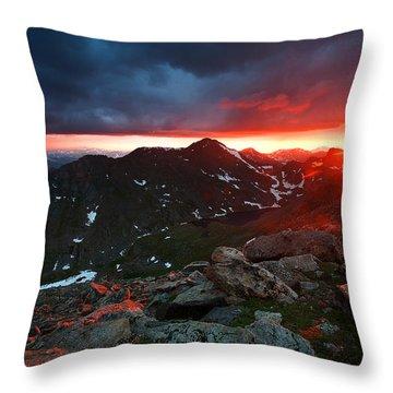 Goodnight Kiss Throw Pillow by Jim Garrison