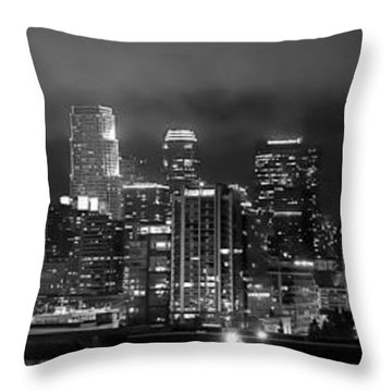 Gotham City - Los Angeles Skyline Downtown At Night Throw Pillow