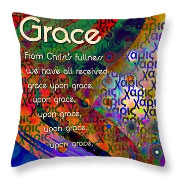 Grace Throw Pillow by Chuck Mountain