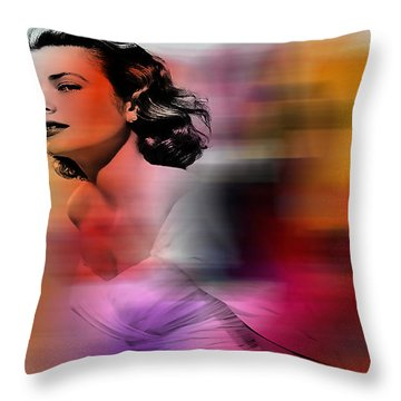 Grace Kelly Throw Pillow by Marvin Blaine